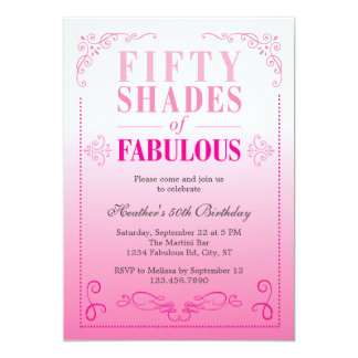 Fifty Shades of Fabulous Birthday Invitation