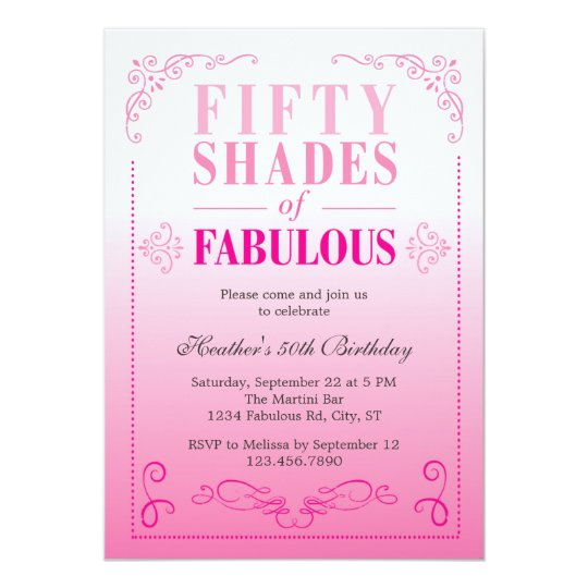 Fifty shades of fabulous birthday invitation zazzle fifty shades of fabulous birthday invitation filmwisefo