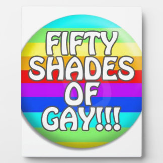 FIFTY SHADES OF GAY MULTI SHADE PLAQUE
