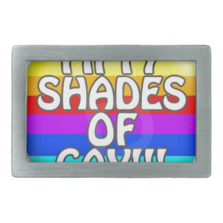 FIFTY SHADES OF GAY MULTI SHADE RECTANGULAR BELT BUCKLE