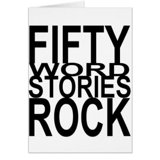 Fifty Word Stories Rock Card