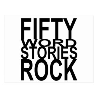 Fifty Word Stories Rock Postcard