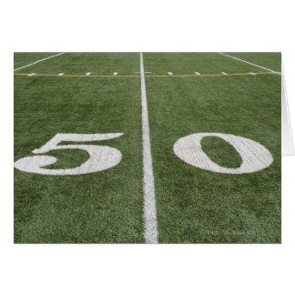 Fifty yard line card