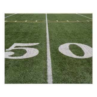Fifty yard line poster