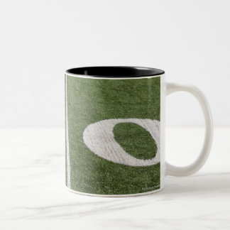 Fifty yard line Two-Tone coffee mug