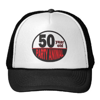 Fifty Year Old Party Animal | 50th Birthday Trucker Hat