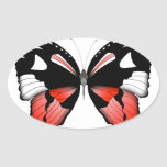 fig 4 Red Butterfly by tony fernandes Oval Sticker