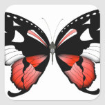 fig 4 Red Butterfly by tony fernandes Square Sticker