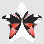 fig 4 Red Butterfly by tony fernandes Star Sticker