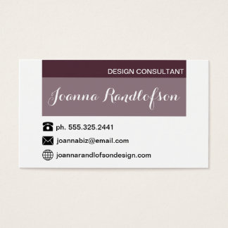 FIG and White Simple Chic Design Business Card