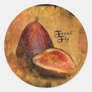 Fig Classic Round Sticker