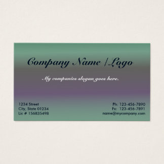 Fig Gradient 1 Sided Business Card Template
