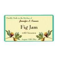 Fig Jam or Preserves Canning Jar Food Label