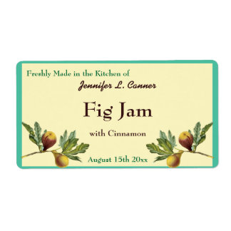 Fig Jam or Preserves Canning Jar Food Label