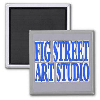 Fig Street Studio Blue Letter Tiles Magnet