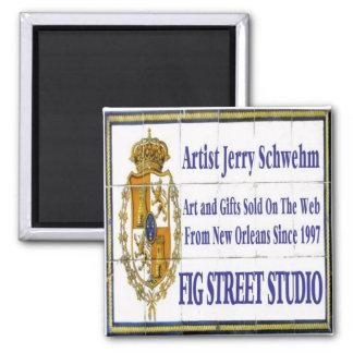 Fig Street Studio Tile Mural Magnet
