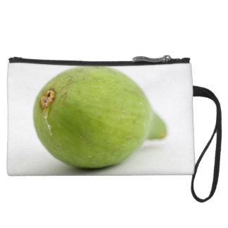 Fig Suede Wristlet