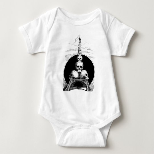 Figaro. An Eiffel Tower for the Cemetery Baby Bodysuit