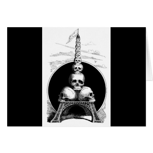 Figaro. An Eiffel Tower for the Cemetery Card