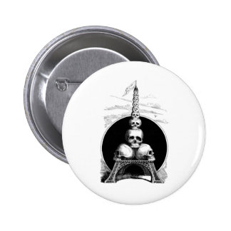 Figaro. An Eiffel Tower for the Cemetery Pinback Button
