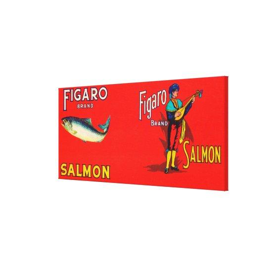 Figaro Brand Salmon Label Canvas Print