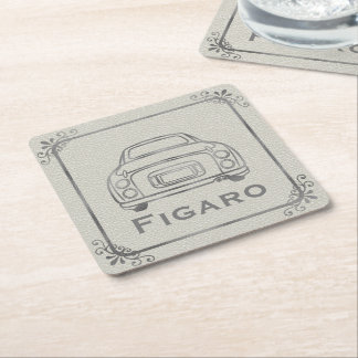 Figaro Car Line Art Customisable Paper Coaster