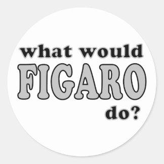 Figaro Classic Round Sticker