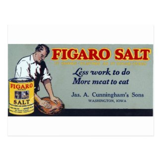 Figaro Salt Ad Washington,IA Post Cards