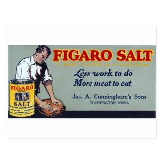 Figaro Salt Ad Washington,IA Postcard