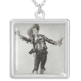 Figaro Square Pendant Necklace