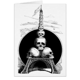 Figaro. Una torre Eiffel para el cementerio Tarjeta De Felicitación