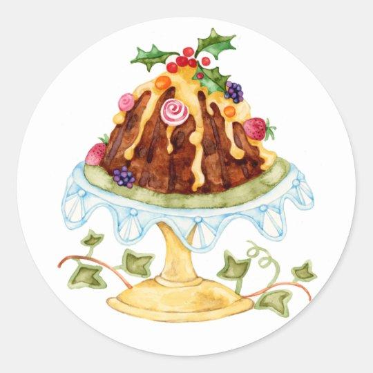Figgy Pudding Classic Round Sticker