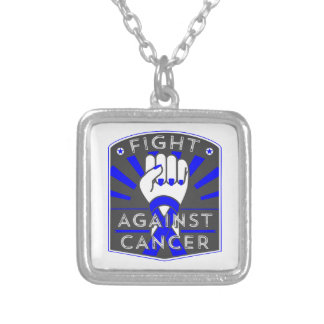 Fight Against Anal Cancer Square Pendant Necklace