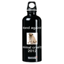 Fight Against Animal Cruelty Aluminum Water Bottle