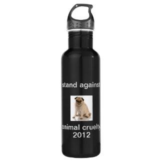 Fight Against Animal Cruelty 24oz Water Bottle