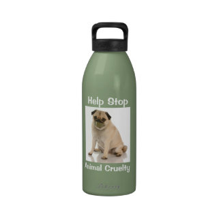 Fight against animal cruelty water Liberty Bottle Reusable Water Bottle
