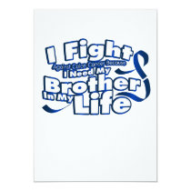Fight Against Colon Cancer For Brother Card