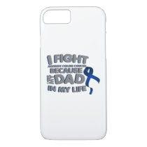 Fight Against Colon Cancer For Dad iPhone 8/7 Case