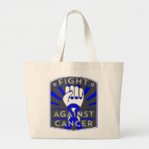 Fight Against Colon Cancer Large Tote Bag