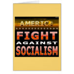 Fight Against Socialism Greeting Card