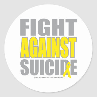 Fight Against Suicide Classic Round Sticker