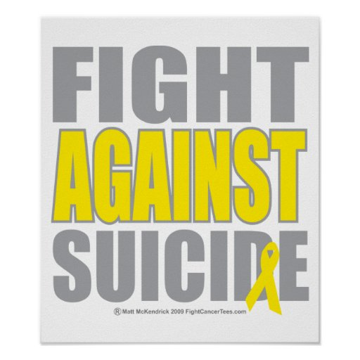 Fight Against Suicide Poster