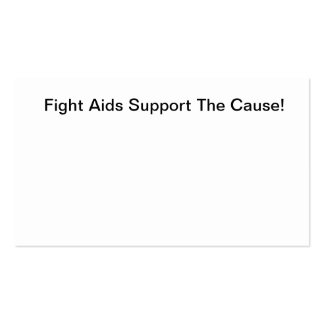 Fight Aids Business Card
