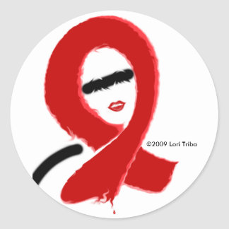 FIGHT AIDS RIBBON DESIGN STICKER