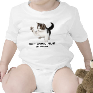 FIGHT ANIMAL ABUSE KITTEN SHIRT FOR BABIES