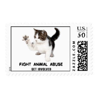 FIGHT ANIMAL ABUSE KITTY USPS FIRST-CLASS STAMP