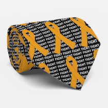 Fight Appendix Cancer  Amber Ribbon Neck Tie