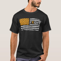 Fight Appendix Cancer American Flag Vintage T-Shirt