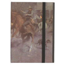 Fight at the Roundup Saloon by EW Gollings iPad Air Case