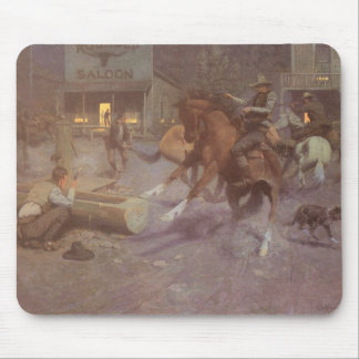 Fight at the Roundup Saloon by EW Gollings Mouse Pad